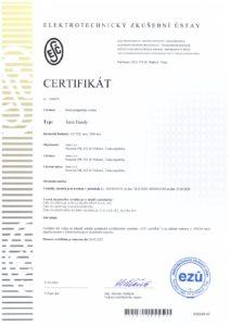 CE certifikát Aton Handy